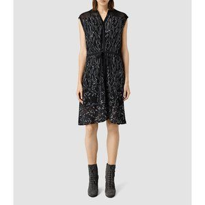 "All Saints Sheer Dress ""Philomena"" Embroidered -10"